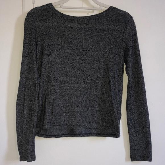 Tops - Dark Grey Long Sleeved Blouse